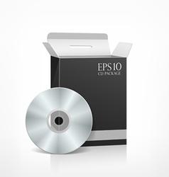 Package cd black box vector image