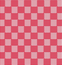 red white seamless fabric texture pattern vector image vector image