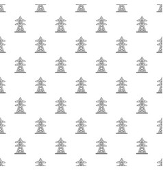 electric tower pattern seamless vector image