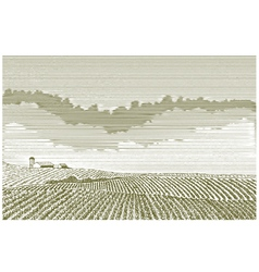 Farm Field Drawing vector image vector image