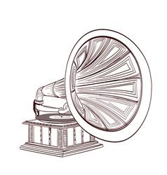 gramophone vector image vector image