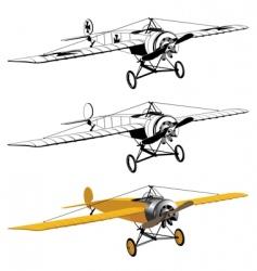 monoplane design vector image vector image