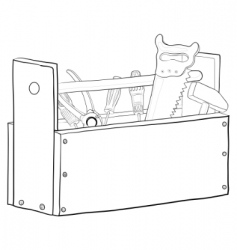 tool box contours vector image