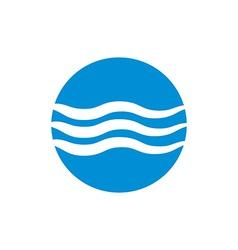 Wave water icon abstract icon symbol vector image vector image