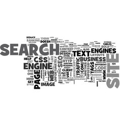 web development with seo in mind text word cloud vector image vector image