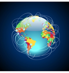 Worldwide connections colorful vector image vector image