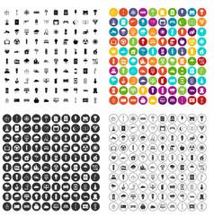 100 windmills icons set variant vector