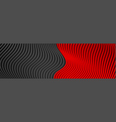 abstract banner with contrast red black refracted vector image
