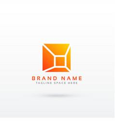 Abstract simple geometric logo design vector
