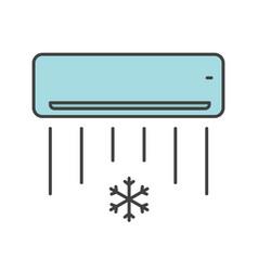 Air conditioner color icon vector