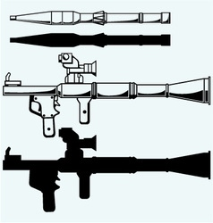 Anti-tank rocket propelled grenade launcher RPG 7 vector