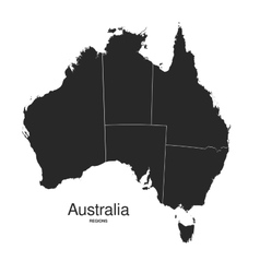 Australia regions silhouette vector