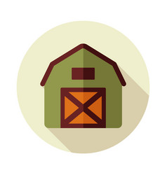 Barn house flat icon vector