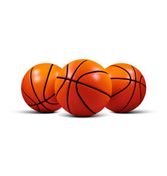 Basketball ball isolated on a white vector