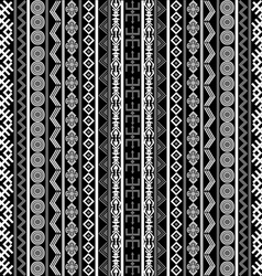 Black and white background with ethnic motifs vector