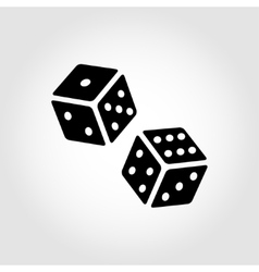Black dice cubes icon vector