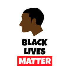 Black lives matter background vector