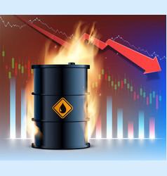 Burning barrel oil vector