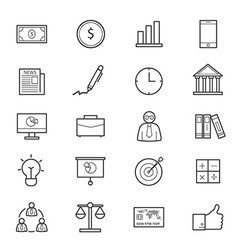 Business and Finance Icons Line vector image