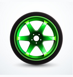 car alloy wheel isolated vector image