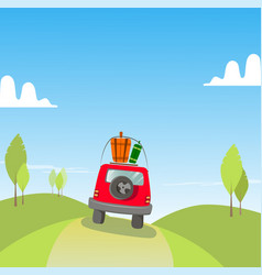 car travel holidays vector image