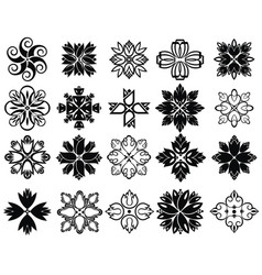 collection of flowers icons vector image