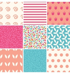 Colorful branches set of nine matching vector
