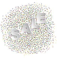 confetti and sale vector image