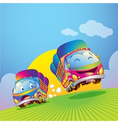 cute truck vector image
