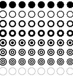 Decagon shape polygon set vector image