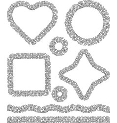 drawings decorative floral borders and frames vector image