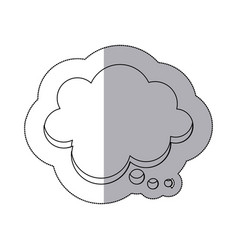 figure chat cloud bubble icon vector image