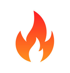fire icon isolated on white background vector image