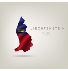 Flag of LIECHTENSTEIN as a country with a shadow vector image