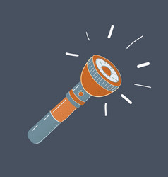 flashlight on dark vector image