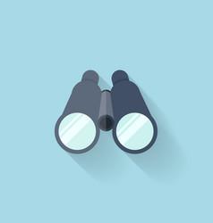 Flat web icon Binocular vector image