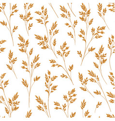 Floral pattern with leaves ornamental seamless vector