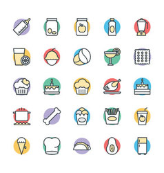 Food Cool Icons 9 vector image