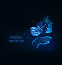 futuristic coronavirus infection protection vector image