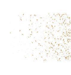 gold ribbons confetti vector image