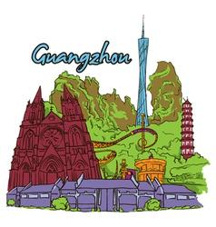 Guangzhou doodles vector