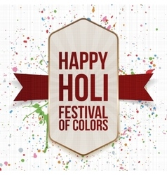 Happy Holi Festival of Color vertical Card vector