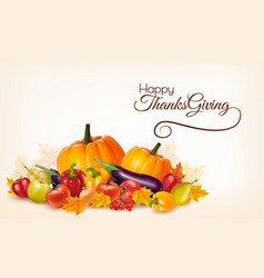 Happy thanksgiving background with colorful vector