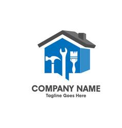 home repair emblem with tool and symbol a 3d ho vector image