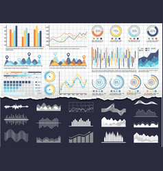 infographic and charts pie diagrams and schemes vector image