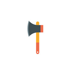 Isolated camping ax icon flat design vector