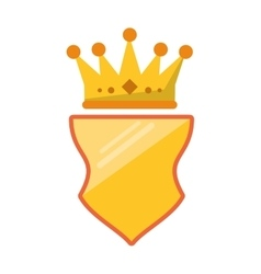 Isolated crown over shield design vector