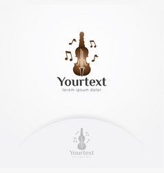 key of violinist logo design vector image