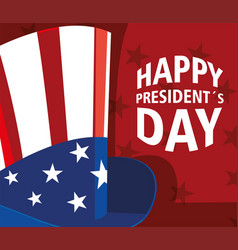Label happy president day greeting card united vector