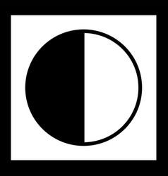 Last quarter icon vector